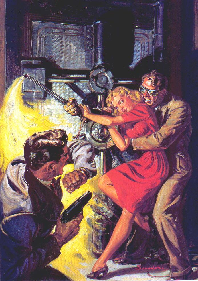 """Norm Saunders """"Ten Story Detective"""" (1938)"""