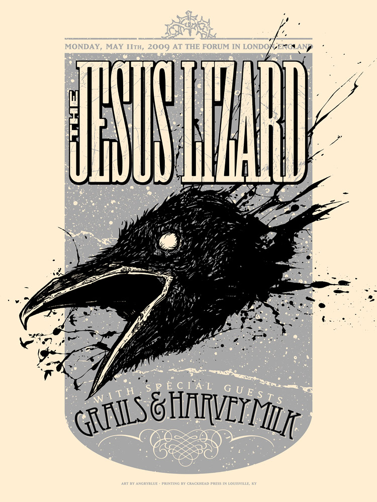 The Jesus Lizard - London Forum Poster